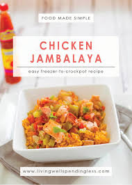jambalaya crock pot recipe easy chicken jambalaya easy freezer to crockpot meal
