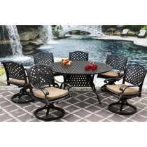 Cast Aluminum Patio Furniture With Sunbrella Cushions by Berkshirepatio Dining Table Patio Furniture