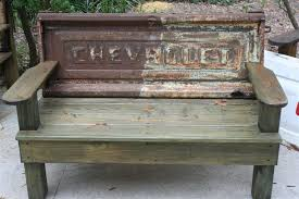 old vintage trucks made of benches vintage tailgate benches by