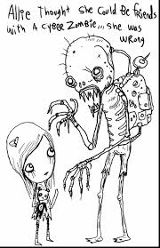 Spectacular Zombie Coloring Book Pages With And Pigman