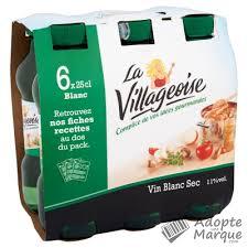 la villageoise vin blanc sec cuisine les 6 bouteilles de 25cl