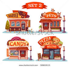 Vector Set Of Cafe Restaurant Ice Cream Shop And Bakery 24 Pizza Clipart