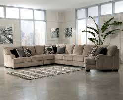 furniture ethan allen sectional sofas in brown with decorative