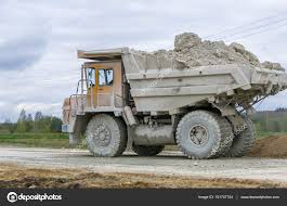 100 Large Dump Trucks Yellow Quarry Dump Trucks Produce Transportation Of