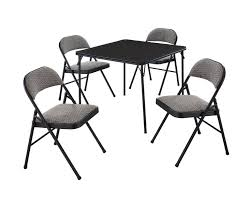 Buy Meco 5-Piece Folding Table And Chair Set, Buff Lace ...