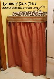 Burlap Utility Sink Skirt by Laundry Room Makeover Cooking Up A Projectcooking Up A Project