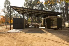 104 Container Homes Shipping Home Increases Living Space With Sheltered Exterior
