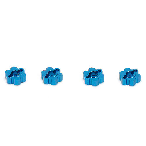 ECX Wheel Hex Set - Blue, Aluminum, Circuit Boost, 1/10 Scale