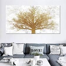 goldbaum leinwand bild große poster kunstdruckt abstrakte