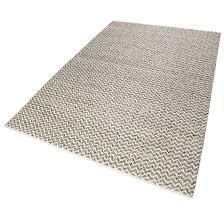esprit kurzflor kelim teppich aus wolle sandi grau weiß