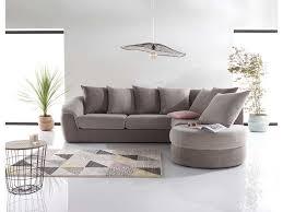 canapé gris taupe canapé d angle fixe droit 5 places boreal en tissu pas cher canapé