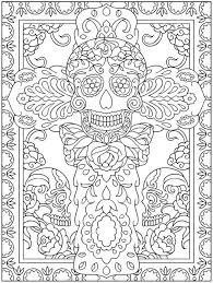 Day Of The Dead Coloring Pages Hard For Adults Tc3av