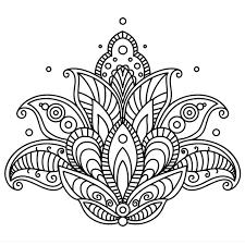 Mandala Avec Des éléments Et Des Fleurs Dessinés à La Main Dans Le