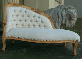 Ebay Chaise by Loveseat Ornate French Shabby Chic Rococo Oak Linen Chaise Longue