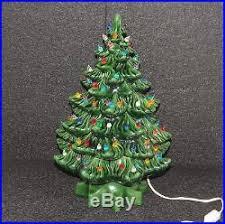 Vintage Atlantic Mold Ceramic Christmas Tree by Vintage Ceramic Christmas Tree 15 Atlantic Mold Multi Color Green