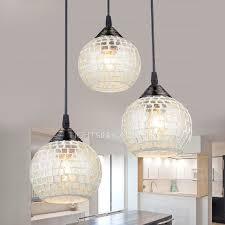 3 light glass shade multi pendant light for living room