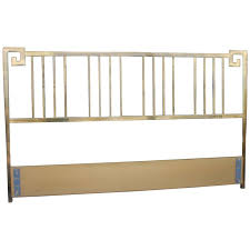 Bamboo Headboards For Beds by Mastercraft Greek Key Brass Vintage King Size Headboard Faux