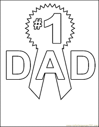 Father Day Coloring Pages Free