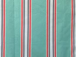 Curtain Fabric By The Yard by Sea Green Red And Blue Stripes Curtain Fabric By The Yard
