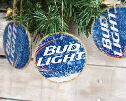 On Sale Bud Light Christmas Ornament Double Sided