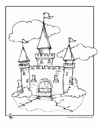 Coloring Print Disney Castle Pages New At