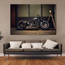 chopper bobber motorrad custom bike motorrad rod stangen ka270 wohnzimmer home wand moderne kunst dekor holz rahmen poster
