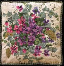 Dramatic Summer Floral Needlepoint Kit Barbara Baatz Rose Wreath