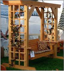 arbor with seat plans garden arbor bench free plans corner arbor