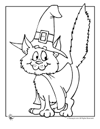 Cute Halloween Coloring Pages Witch Cat Page Fantasy Jr