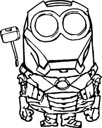 Robot Minion Coloring Page