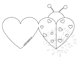 Pretty Design Valentine Card Coloring Pages Ladybug Cards