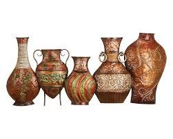 tuscan urns metal wall decor