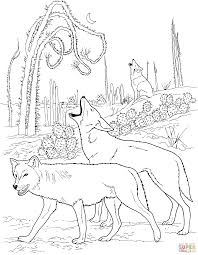Full Size Of Coloring Pagesfancy Desert Pages Coyotes Howling In Page Large