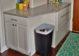 Under Cabinet Trash Can With Lid by A Trash Can Plan Painting Our Cheap Plastic Kitchen Trash Can