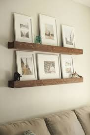 create a diy photo gallery with style photo ledge beams and