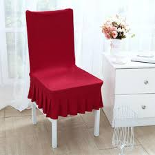 Unique Bargains Stretch Thicken Plush Short Dining Room Chair Covers Seat Protector Slipcovers