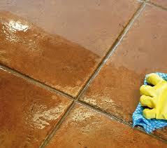 porcelain and ceramic tiled floors look great when just washed