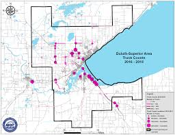 100 Truck Route Map DuluthSuperior Area Study