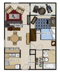 100 Small One Bedroom Apartments 1 1 Bathroom This Is An Apartment Floor Plan