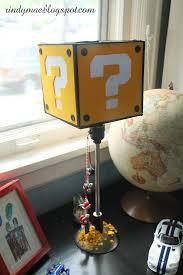 Mario Bros Question Block Lamp by Custom Super Mario Block Lamp Made For Mario Themed Birthday Party