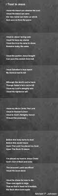 100 Michael P Johnson I Trust In Jesus Oem By Oem Hunter