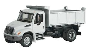100 5 Axle Dump Truck Walthers HO Scale International 4300 Single White