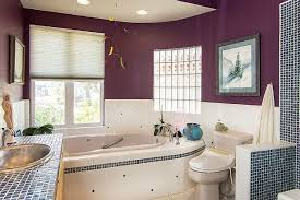 Deep Purple Bedrooms by Los Angeles Glass Block Showers Bathroom Contemporary With Wall