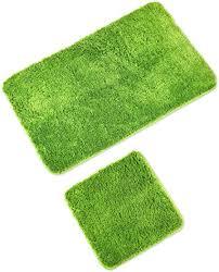 wohndirect badematten set wc vorleger 45x45cm badematte 60x100cm rutschfest waschbar badezimmerteppich ohne wc ausschnitt grün