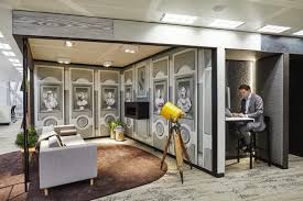 Modern office design bines function and relaxation with