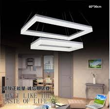 modern square led chandeliers for living room dinning room 60w