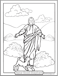 Good Shepherd Picture Of Jesus And A Lamb