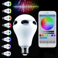 2018 smart e26 e27 bulb rc colorful led bluetooth 3 0 speaker