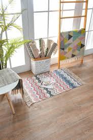 teppiche teppichböden boho rund quaste gewebt teppiche