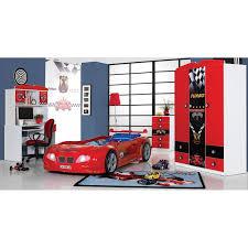 chambre voiture garcon chambre enfant turbo lit voiture bureau bibliothèque armoire 3